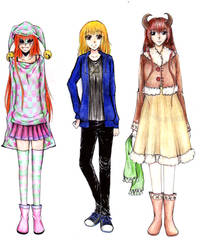 Characters from my stories by mackyca