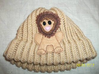 Brown Lion baby hat