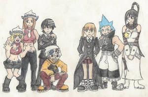 Soul Eater Group by tiggytiger2012