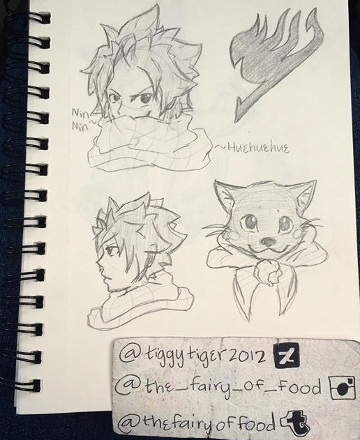 Natsu And Happy Sketches By Tiggytiger2012 On Deviantart