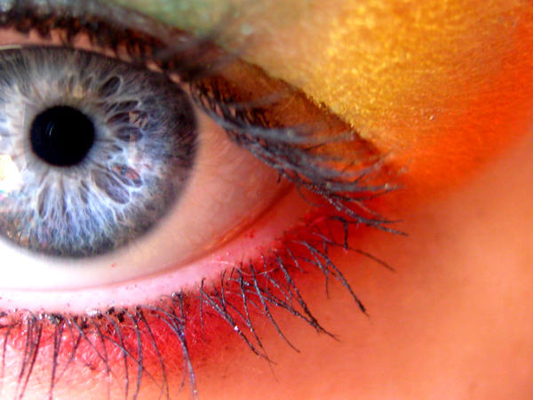 Rainbow eye make-up. by MarriageMassacre