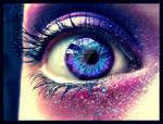 Purple eye.
