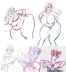 NSFW colletcion sketches by ChocFutachan