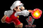 Mario Bros Fire - Render