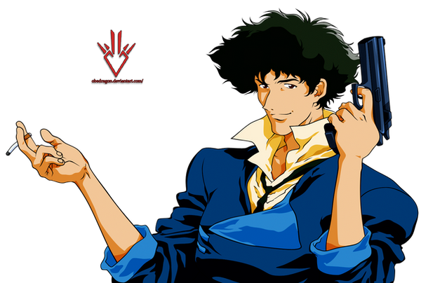 spike spiegel cowboy bebop render by obedragon on deviantart. Black Bedroom Furniture Sets. Home Design Ideas