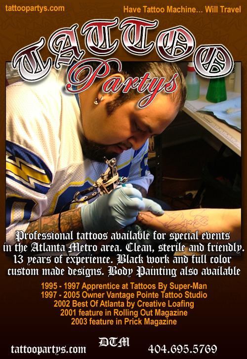 Liven up any party with tattoos by DTM.