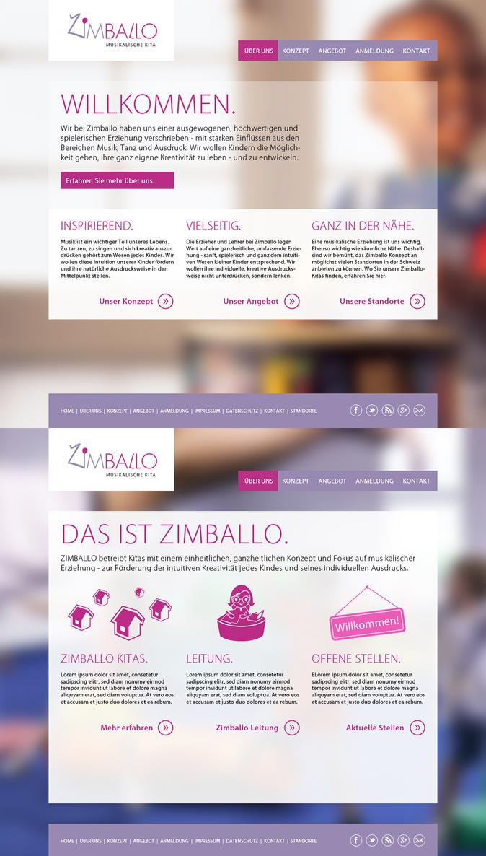 Zimballo Kindergarten Website layout 02 by SebastianKlammer