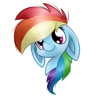 Rainbow Dash Headshot by Amberlea-draws