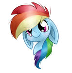 Rainbow Dash Headshot