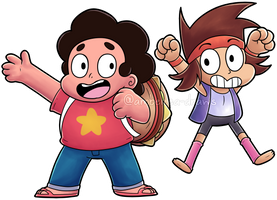 Steven and K.O. by Amberlea-draws