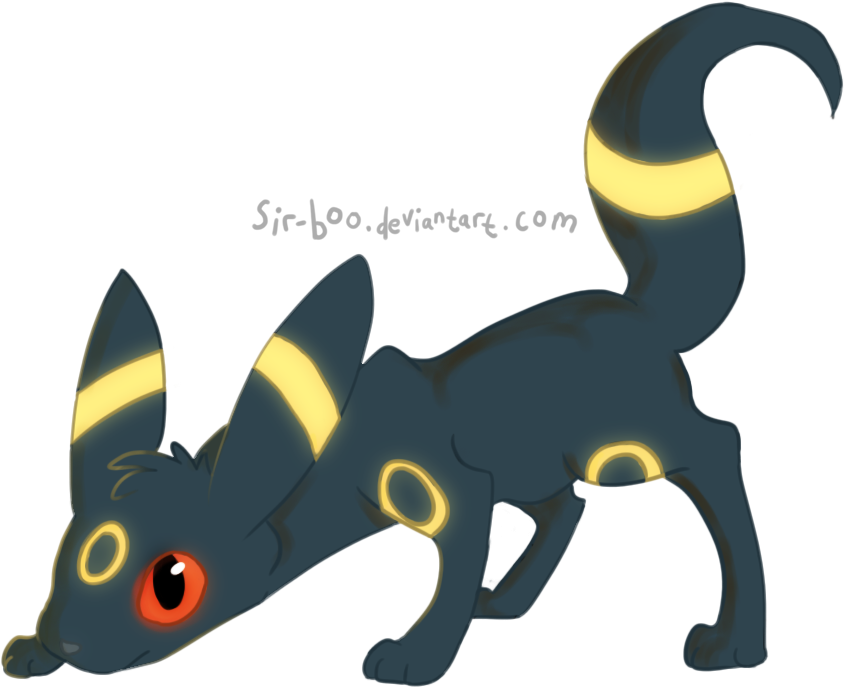 kiriban prize: 'fraidy little umbreon by sir-boo