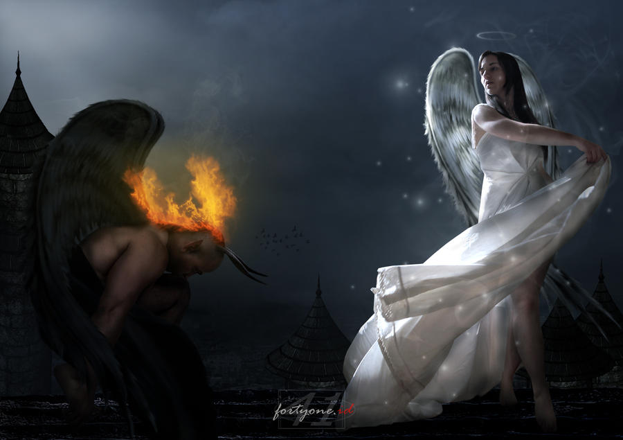 DEMON AND ANGEL by fahrifortyone on DeviantArt