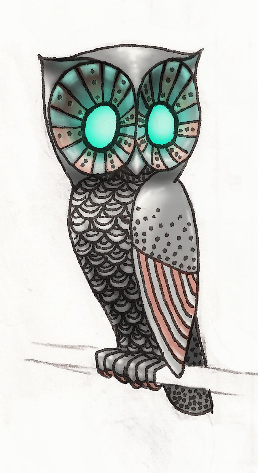 Cool owl drawings - photo#19