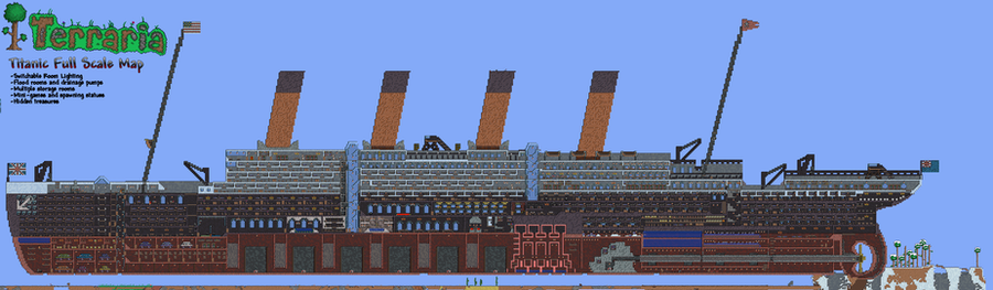 Terraria Titanic Complete 290852097 on Minecraft Castle Blueprints