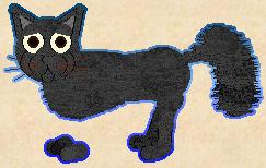 Ugliest Petz: Black the Floaty-Foot Cat by Blastile