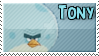Tony The Blue Terence Bird Stamp by TBalazs2000