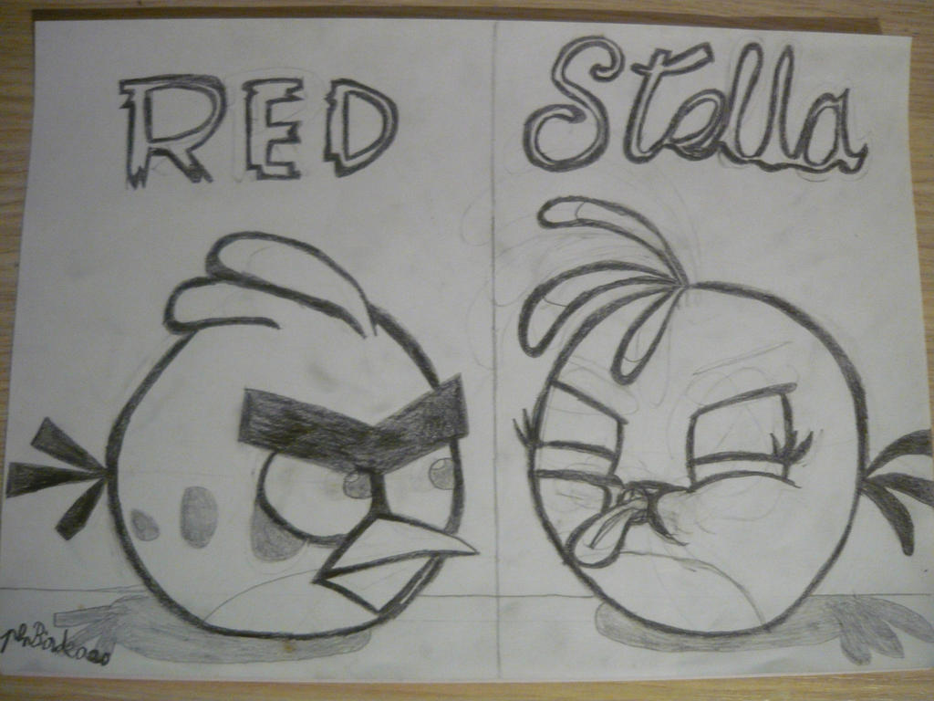 Angry Birds Red And Stella