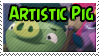 Artistic Pig Stamp by TBalazs2000