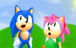 Modern Sonic n Classic Amy