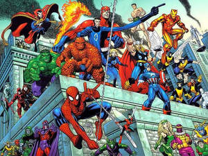 Spider-Man and the Amazing Avengers (by Art Adams)