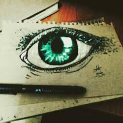 green eye by DreamGirl24