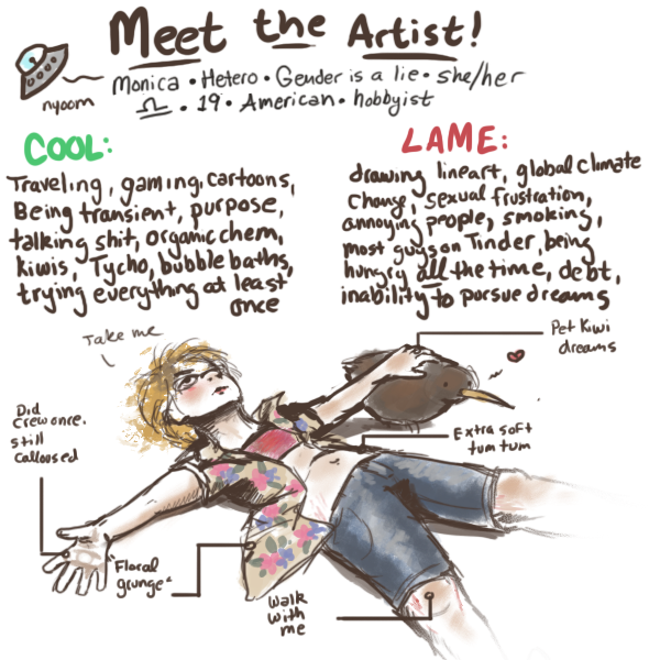 meet the artist by WillowEscapee