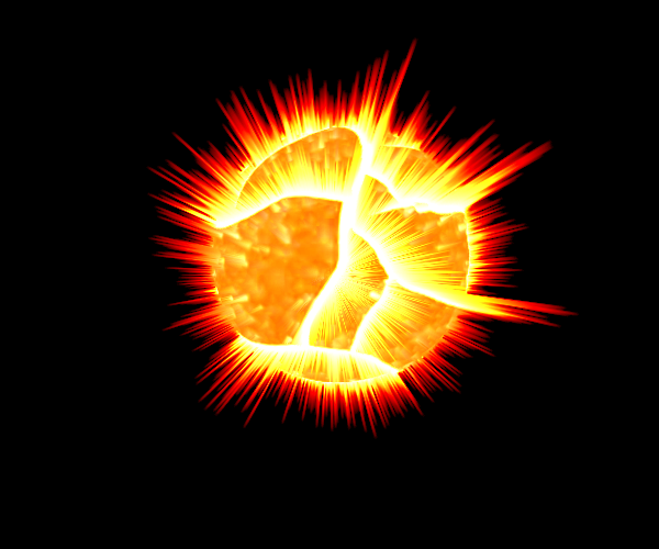 Exploding planet by newdeal666