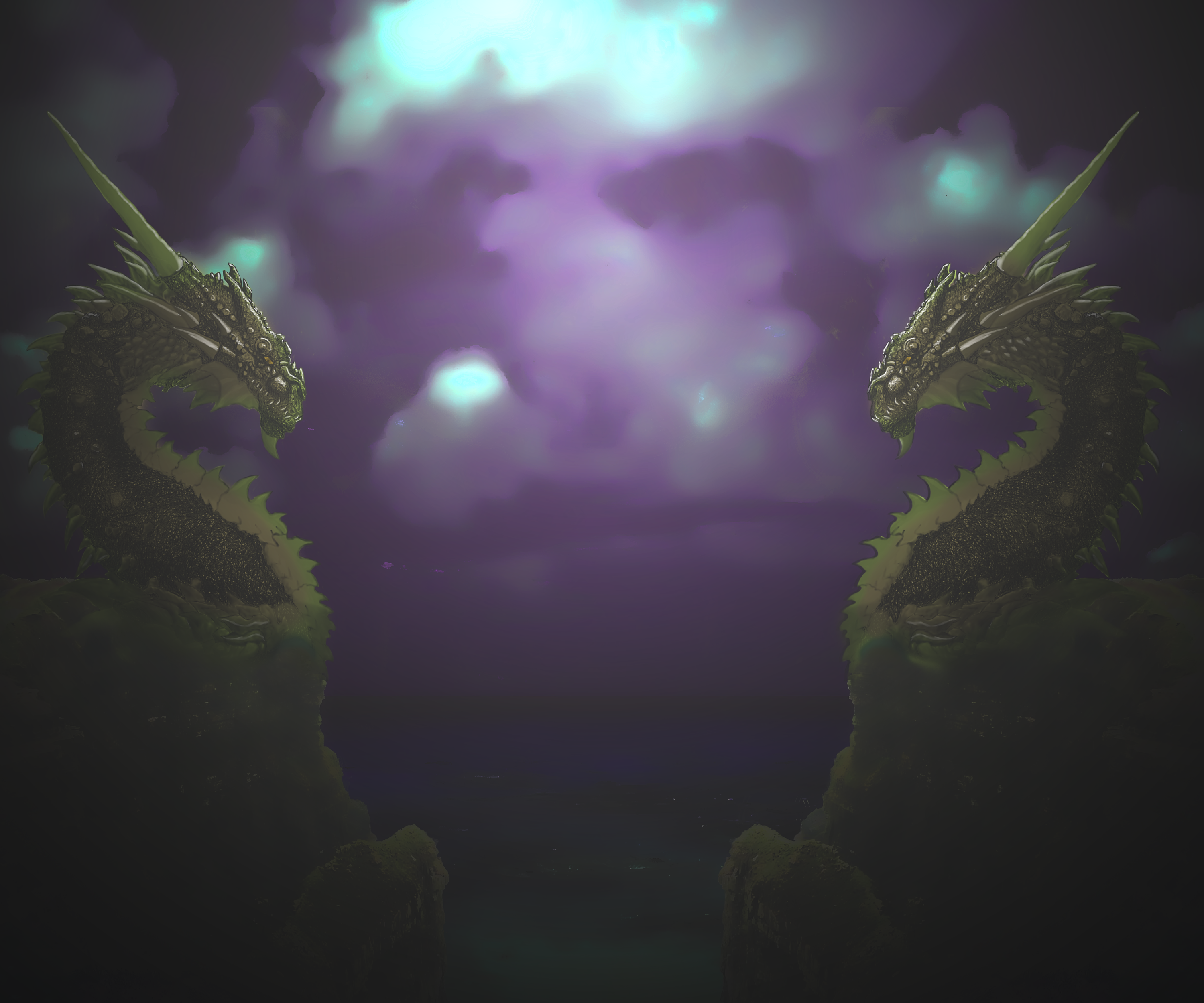 Two Dragons by newdeal666