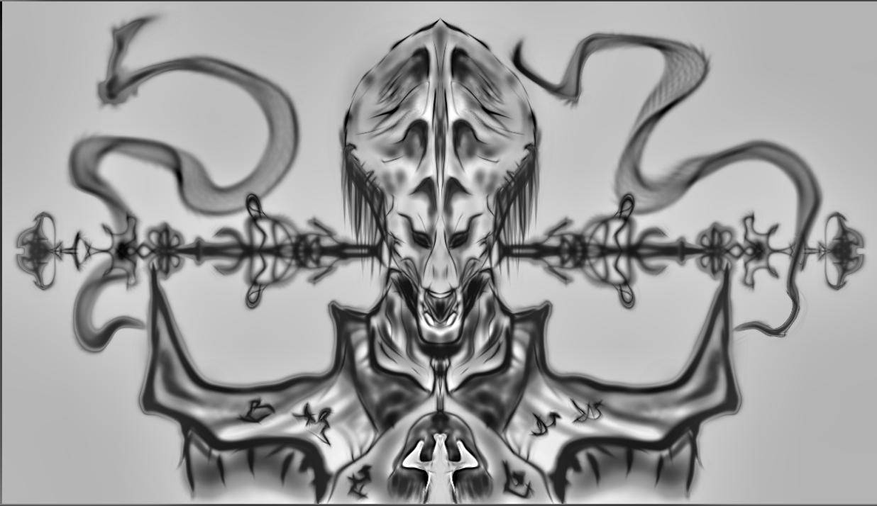 flathead Alien Zbrush by newdeal666