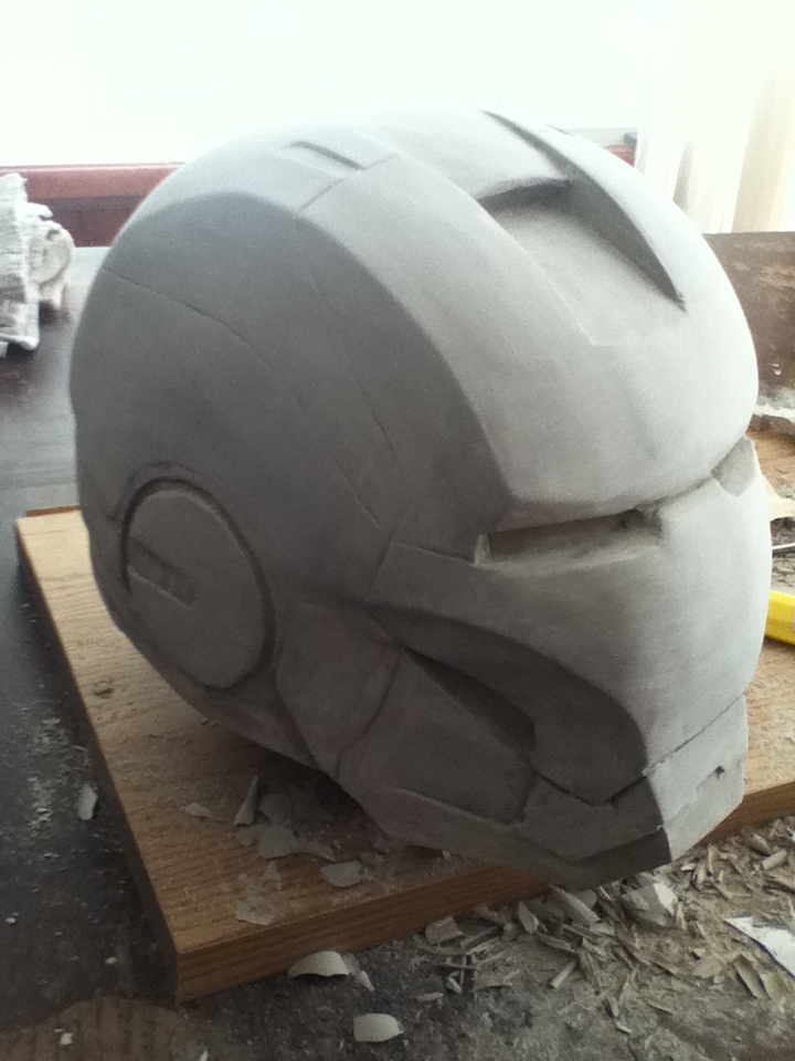 iron man clay WIP 5 by newdeal666