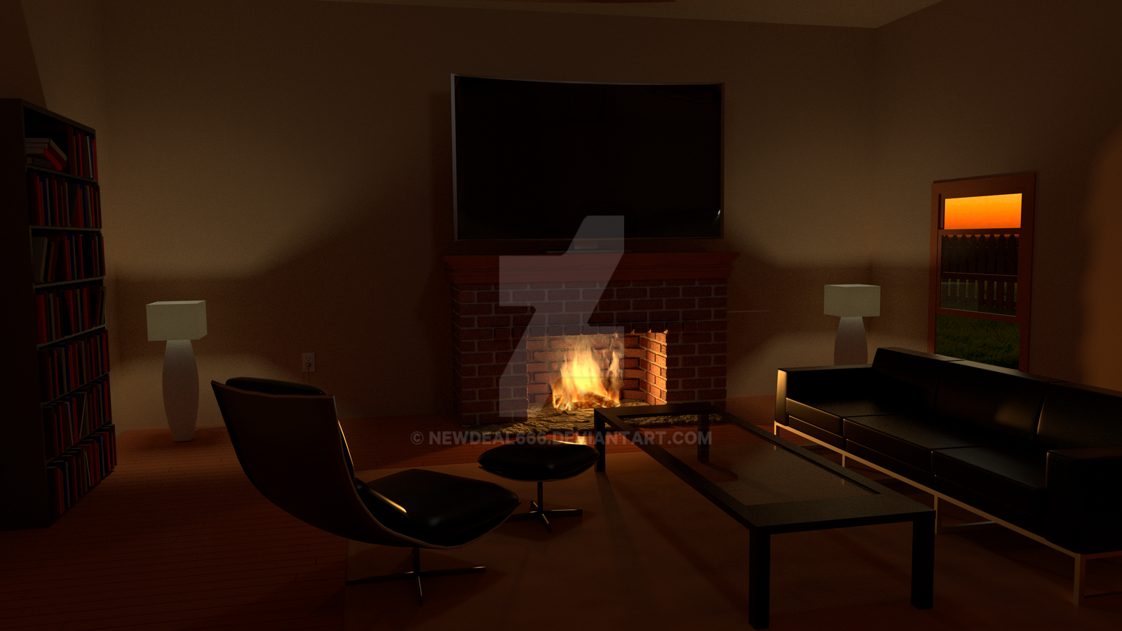 Living Room by newdeal666