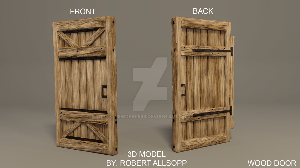 wooden door based off of rust concept by newdeal666 on
