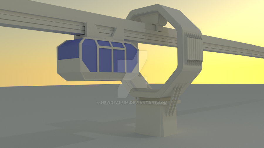 Rust Concept monorail 3D by newdeal666