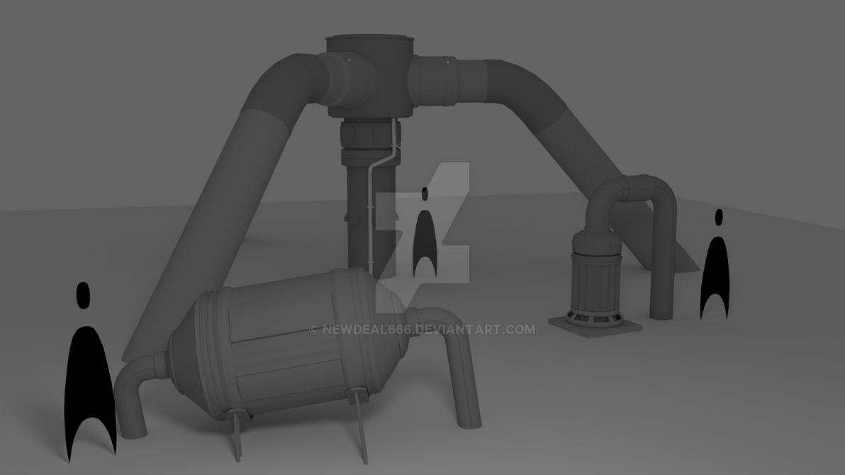 Rust Concept Pipes 3D by newdeal666