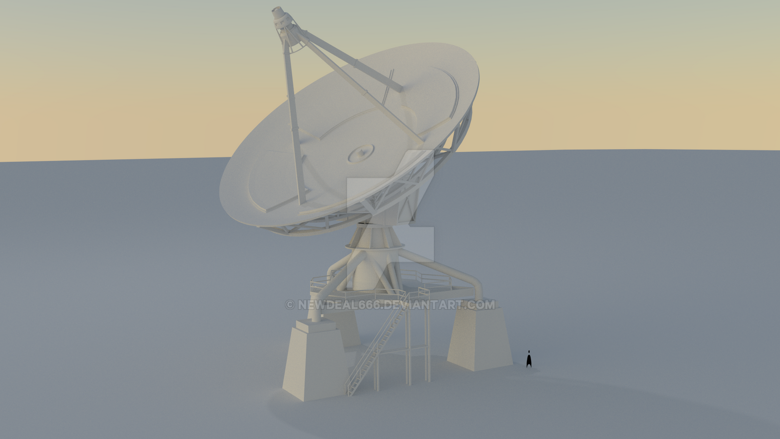 Rust Satellite Dish Concept by newdeal666