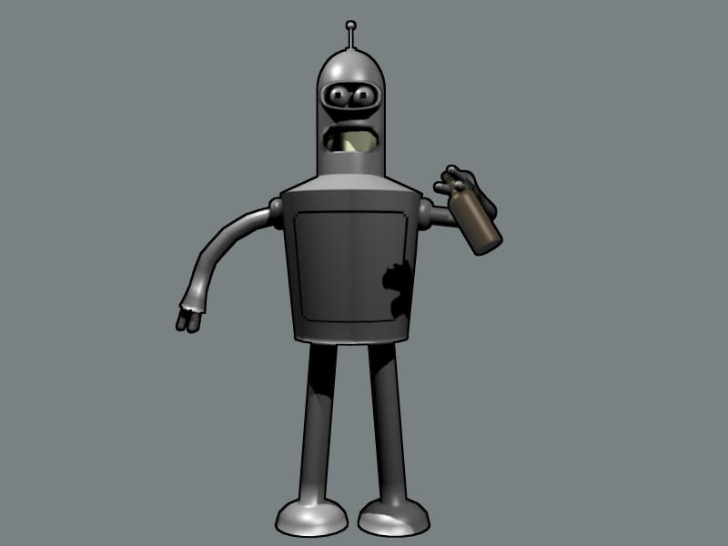 bender drinking beer by newdeal666