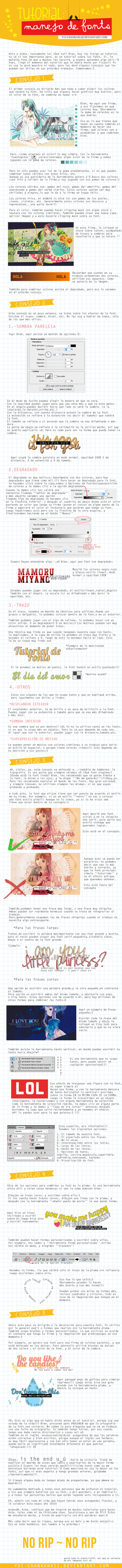 Tutorial Manejo de Font by Yui-chanKawaii