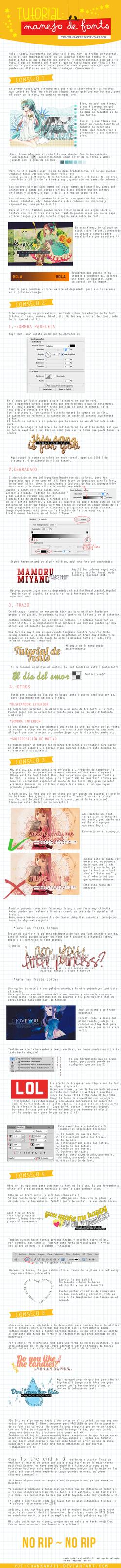 Tutorial Manejo de Font by Yui-chanKawaii