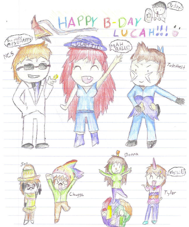 Happy Birthday Lucahjin 111 One By Cosplaybuddygiraffes On Deviantart Android, ios, mac, pc, winphone. deviantart