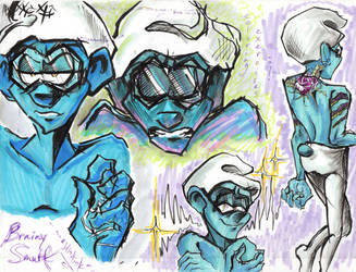 blindink_Brainy Smurf by cracked139