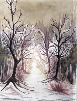 winter scene (watercolor)