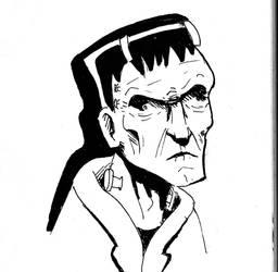Inktober Frankenstein by Lun-de