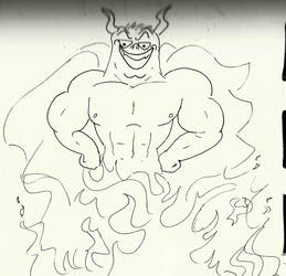Inktober demon by Lun-de