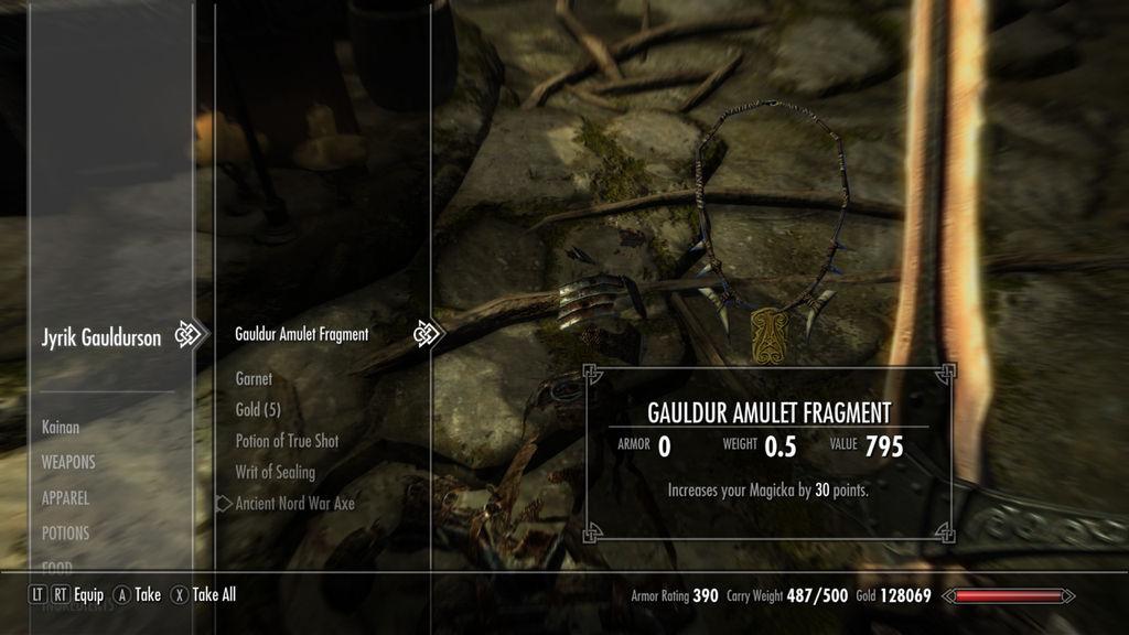 Skyrim gauldur amulet fragment