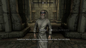 SKYRIM Dexion Evicus the Moth Priest is now blind
