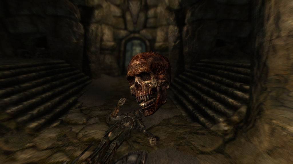 SKYRIM A Strangely Marked Skull by SPARTAN22294 on DeviantArt