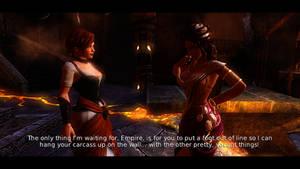 Overlord 2 Mistress Kelda VS. Mistress Juno