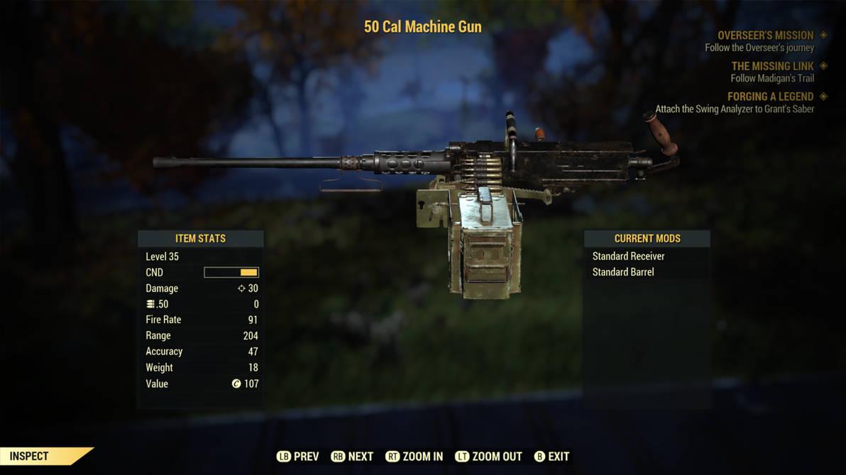 Fallout 76  50 Cal Machine Gun by SPARTAN22294 on DeviantArt
