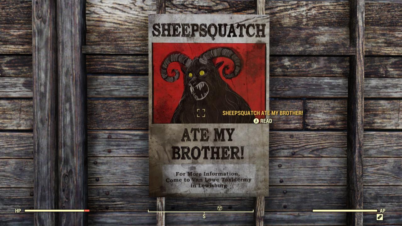Fallout 76 Sheepsquatch Poster By Spartan22294 On Deviantart