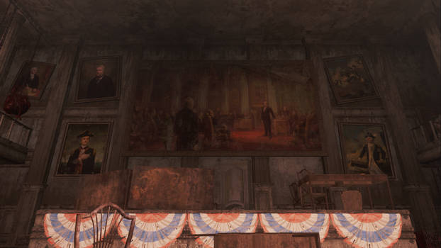Fallout 4 Faneuil Hall paintings by SPARTAN22294
